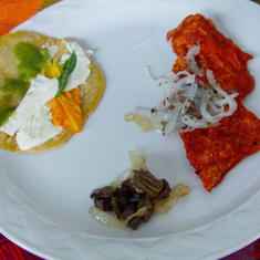 Cozumel, Mexico - We made this amazing meal in cooking class.
