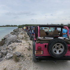 Freeport, Grand Bahama Island - Jeep excursion at one of the stops in Freeport