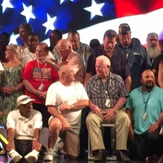 Dad is sitting in the middle, WWII, Korea, Vietnam Vet 95 years old
