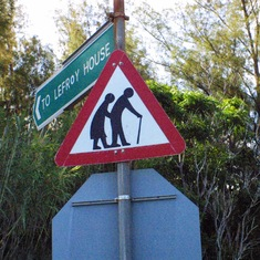 Bermuda - Senior Citizen Warning Sign