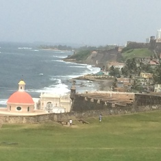 Coastline of Old San Juan, Puerto Rico