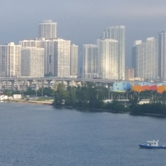 Miami from our ship