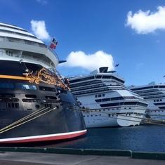Nassau, Bahamas - Ships in Port in Nassau