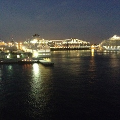 In port at night
