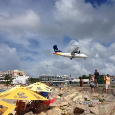 The airport in St. Maarten.