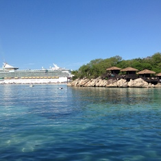 View from Labadee Beach