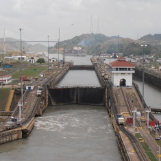 Entering a lock, Panama Canal
