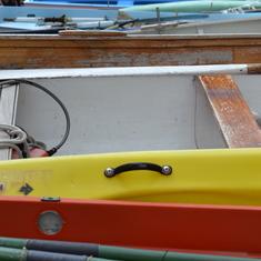 Cinque Terra village boats