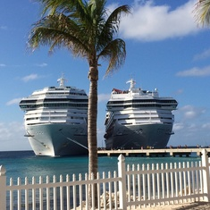 Two of the Carnaval ships, very cool
