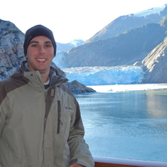 View of Sawyer Glacier from our Balcony