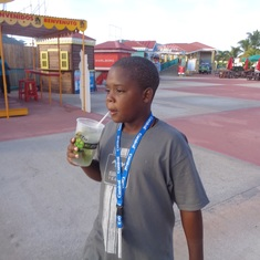 Philipsburg, St. Maarten - He's having a virgin mojito