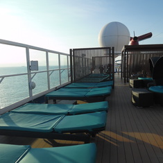 Relaxing on Serenity Deck