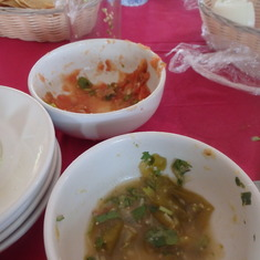 some of the salsa's we made