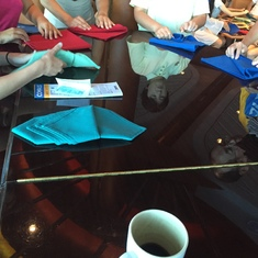 Napkin folding class