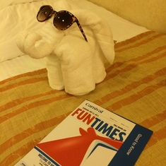 Half Moon Cay, Bahamas (Private Island) - Elephant towel animal