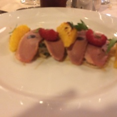 Duck salad in main dining room