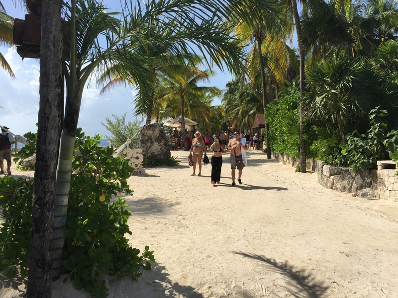 One of the pathways to Xcaret beach  - MSC Divina