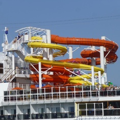 Barcelona, Spain - Water Slide - Carnival Vista