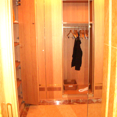 Walkin Closet in Penthouse Suite, aka Pinnacle Suite, Cabin 7001