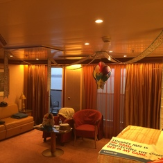 It was my wife's birthday so we had decorations - view from entry way.