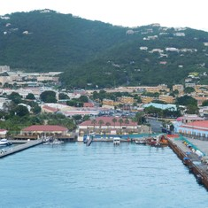 The port area in St. Thomas