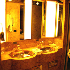 Dual Sinks in Master Bathroom of Penthouse Suite, Westerdam