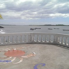 Nice view from restaurant in Corinto Nicaragua