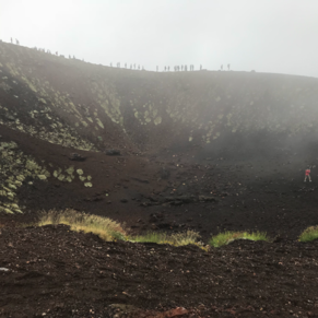 One of the larger craters on Mount Etna