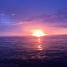 Sunrise on the 1st full day at sea