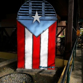 puerto rico flag painted on the guancha