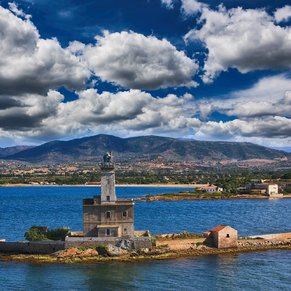 Lighthouse Leaving Olbia.