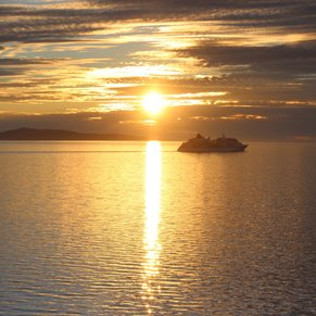 The midnight sun - I took this just after midnight