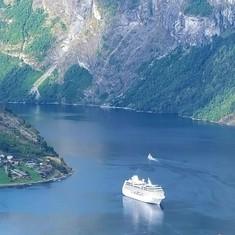 Ocean Princess @ Geiranger/Hellesylt Fjords