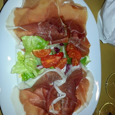 Prosciutto dish at Eataly