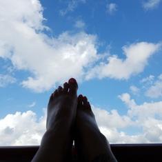 George Town, Grand Cayman - Blue skies