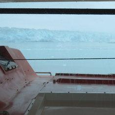 Hubard glacier, from the cabin.