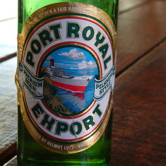 Mahogany Bay, Roatan, Bay Islands, Honduras - One of the prettiest sights obtainable from a hilltop souvenir marketplace