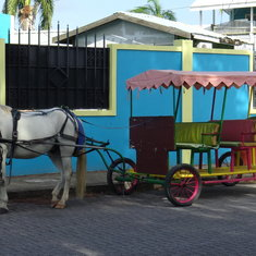 Belize City, Belize - High-speed public transportation Belize-style.