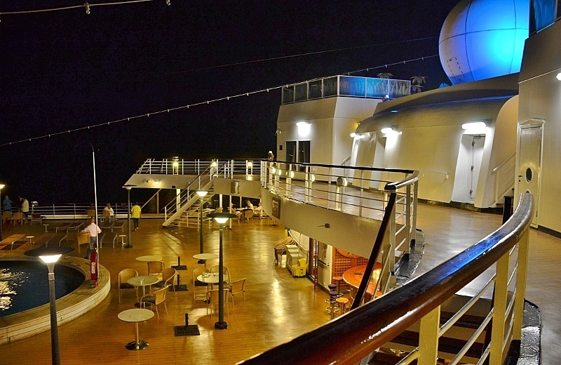Night view of Pool - Deck 8 - Amsterdam