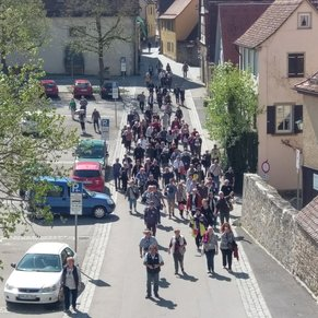 Rothenburg - This is as big as the touring party gets when you do a river cruise. You get treated like royalty