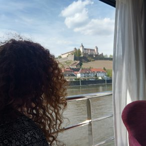 Wurzburg from the comfort of our balcony onboard APT's AmaReina