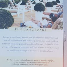 """Sanctuary """"adult only"""" section; on Glacier Day it was $60"""