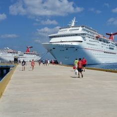 View of ship from Cozumel!