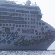 Bow of ship and hull art