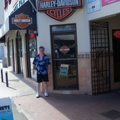 Harley shop in Nassau.