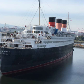 View of the Queen Mary from the Inspiration