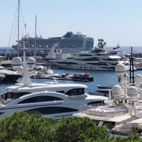 Beautiful yachts and beautiful ship