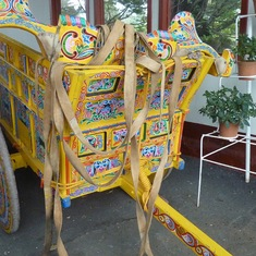 Hand painted bullock cart