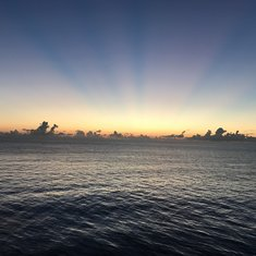 Sunrise over Coco Cay