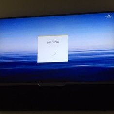 Typical error message on tv